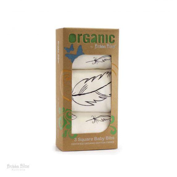 Feathers Organic Cotton 3 pack Bib Set