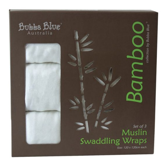 Bamboo – White – 3pk Muslin Swaddle Wraps